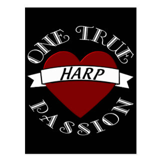 OTP: Harfe Postkarte