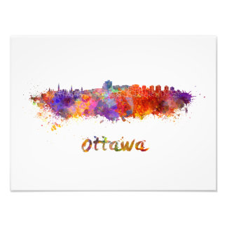 Ottawa skyline im Watercolor Fotodruck