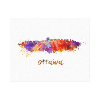 Ottawa skyline im Watercolor Leinwanddruck