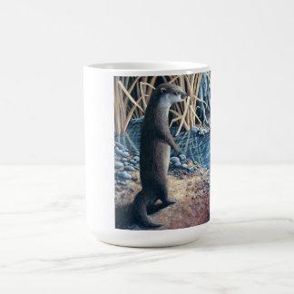 Otter am Rand des Wassers Kaffeetasse