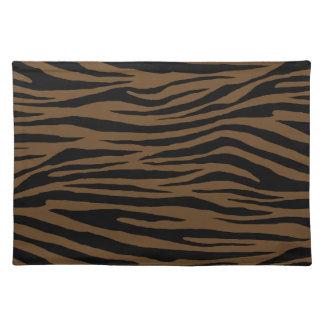 Otter-Brown-Tiger Stofftischset