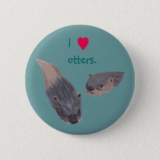 Otter-Button des Herzens I auf Knöpfen Runder Button 5,1 Cm