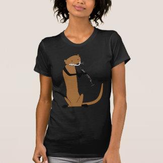 Otter, der den Clarinet spielt T-Shirt