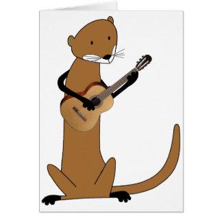 Otter, der die Gitarre spielt Karte