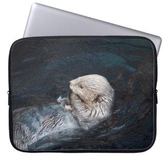 Otter, der wilden WasserZoo der Wassertiernatur Laptop Sleeve