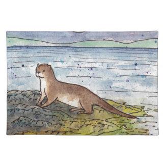 Otter des Loch Stofftischset
