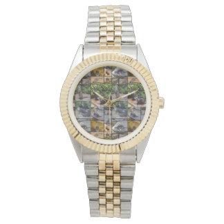 Otter-Foto-Collage, Unisexzwei getonte Uhr