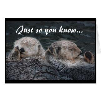 Otter-Freund-Karte Grußkarte