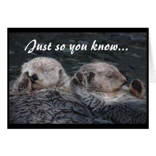 Otter-Freund-Karte