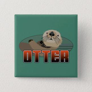 OTTER Gang Quadratischer Button 5,1 Cm