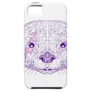 Otter-Hauptblitz-Bolzen-Zeichnen iPhone 5 Etui