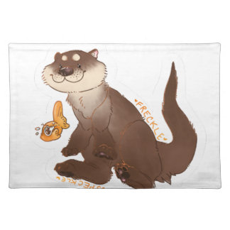 Otter n Goldfisch Stofftischset