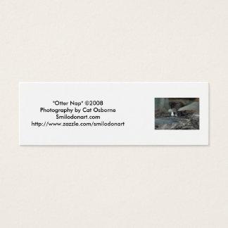 """""""Otter-Nickerchen-"""" Lesezeichen Mini Visitenkarte"""