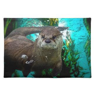 Otter-Porträt Tischset