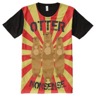 Otter-Unsinn T-Shirt Mit Komplett Bedruckbarer Vorderseite