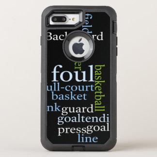 OtterBox Apple Gericht des Basketballs volles OtterBox Defender iPhone 8 Plus/7 Plus Hülle