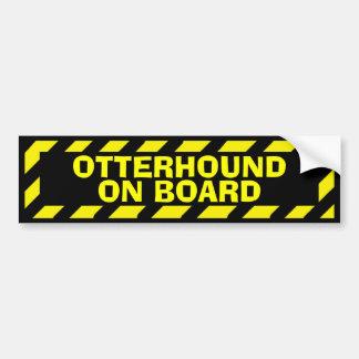Otterhound an Bord des gelben Vorsichtaufklebers Autoaufkleber