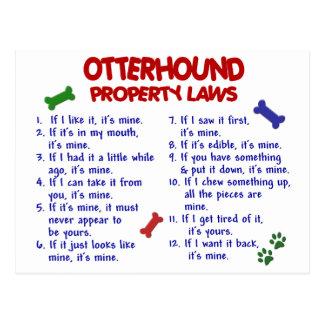 OTTERHOUND Eigentums-Gesetze 2 Postkarte