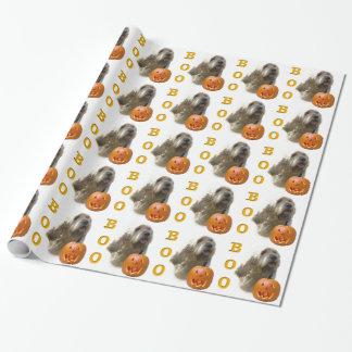 Otterhound-HalloweenBOO Geschenkpapier