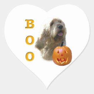 Otterhound-HalloweenBOO Herz-Aufkleber