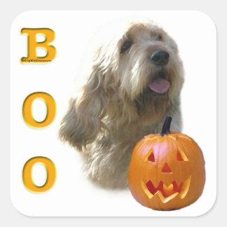 Otterhound-HalloweenBOO Quadratischer Aufkleber