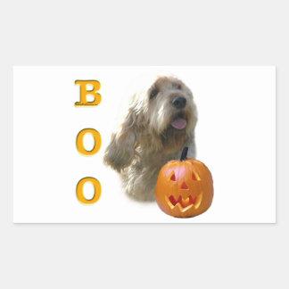 Otterhound-HalloweenBOO Rechteckiger Aufkleber