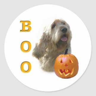 Otterhound-HalloweenBOO Runder Aufkleber