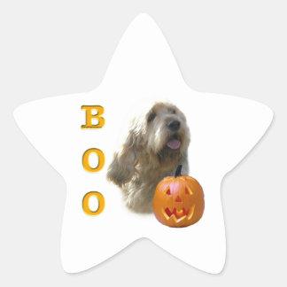 Otterhound-HalloweenBOO Stern-Aufkleber
