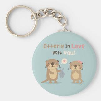 Otterly in der Liebe mit Ihnen Standard Runder Schlüsselanhänger