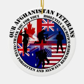 Our Afghanistan Veterans 5 Nations Keramik Ornament