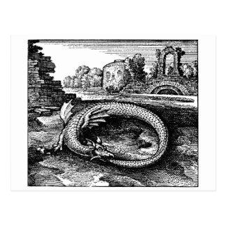 Ouroboros Drache-Geschenke - Postkarte