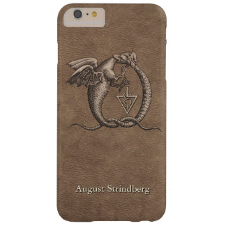Ouroboros Drache-Leder besonders angefertigt Barely There iPhone 6 Plus Hülle