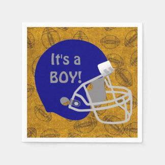 Ourr kleiner Quarterback-themenorientierte Papierservietten