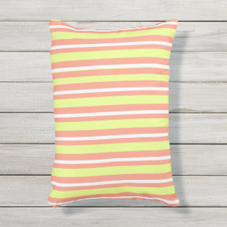 OUTDOOR-INDOOR_Pillows_Fun-Stripe-Peach-Lime Kissen Für Draußen