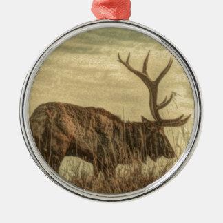 Outdoorsmanwildniswild lebende tiere rustikale silbernes ornament
