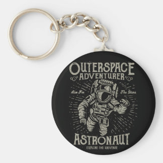 Outerspace Abenteurer-Astronauten-Ziel für die Schlüsselanhänger