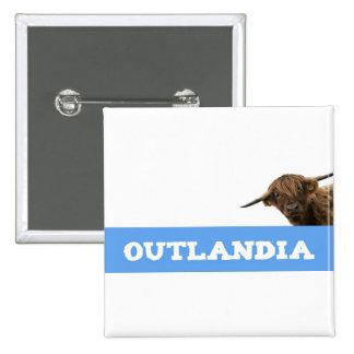 Outlandia Gurren Quadratischer Button 5,1 Cm