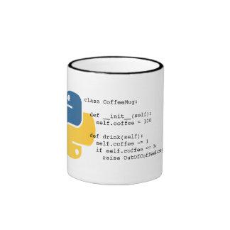 OutOfCoffeeException Pythonschlange-Tasse Ringer Tasse