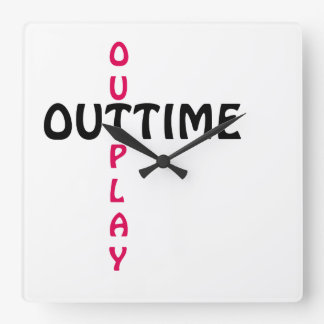 outtime - outplay quadratische wanduhr