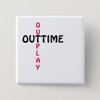 outtime - outplay quadratischer button 5,1 cm