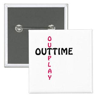outtime - outplay quadratischer button 5,1 cm