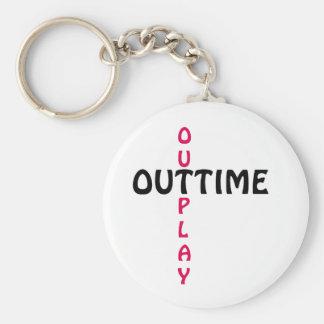 outtime - outplay standard runder schlüsselanhänger