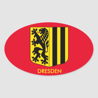 Oval-Aufkleber Dresdens, Deutschland Ovaler Aufkleber