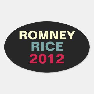 Oval Campaing Aufkleber Romney Reis-2012