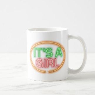 Oval ist es ein Mädchen Kaffeetasse