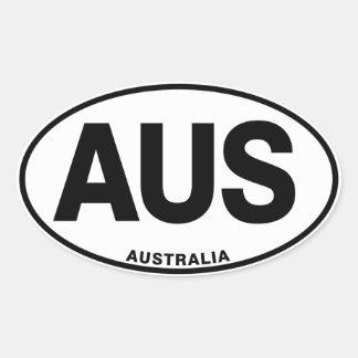 Ovale internationale Identitäts-Buchstaben Ovaler Aufkleber