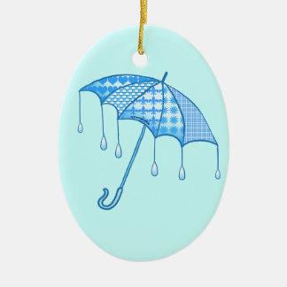 Ovale Keramikverzierung des Regen-Sonnenschirmes Keramik Ornament
