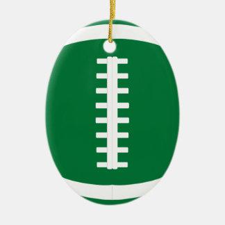Ovales grünes Fußball-Spieler-oder Keramik Ornament