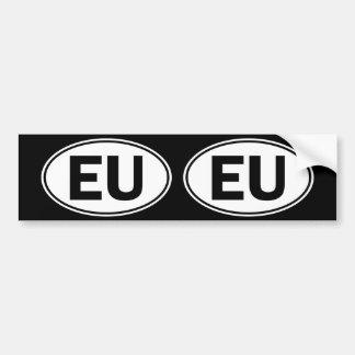 Ovales Identitäts-Zeichen EU Autoaufkleber