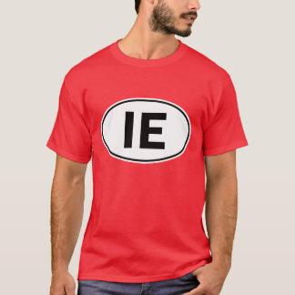 Ovales Identitäts-Zeichen IE T-Shirt